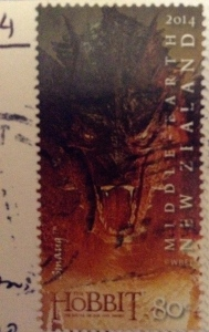 My mum sent me this hobbit stamp on a postcard from New Zealand.